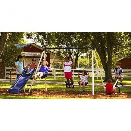 Flexible Flyer Triple Fun Ii Metal Swing Set My Store