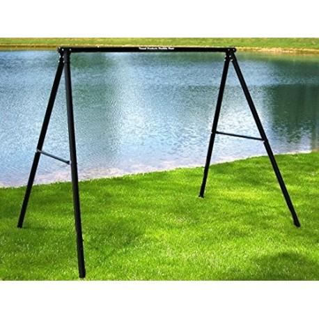 flexible flyer lawn swing frame swing not included black - Metal Swing Frame